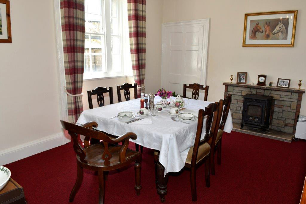 The dining room at Woodland Barton Farm, Avonwick