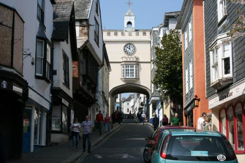 The Clock Tower on Totnes High Street
