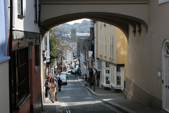 Totnes, the view down High Street