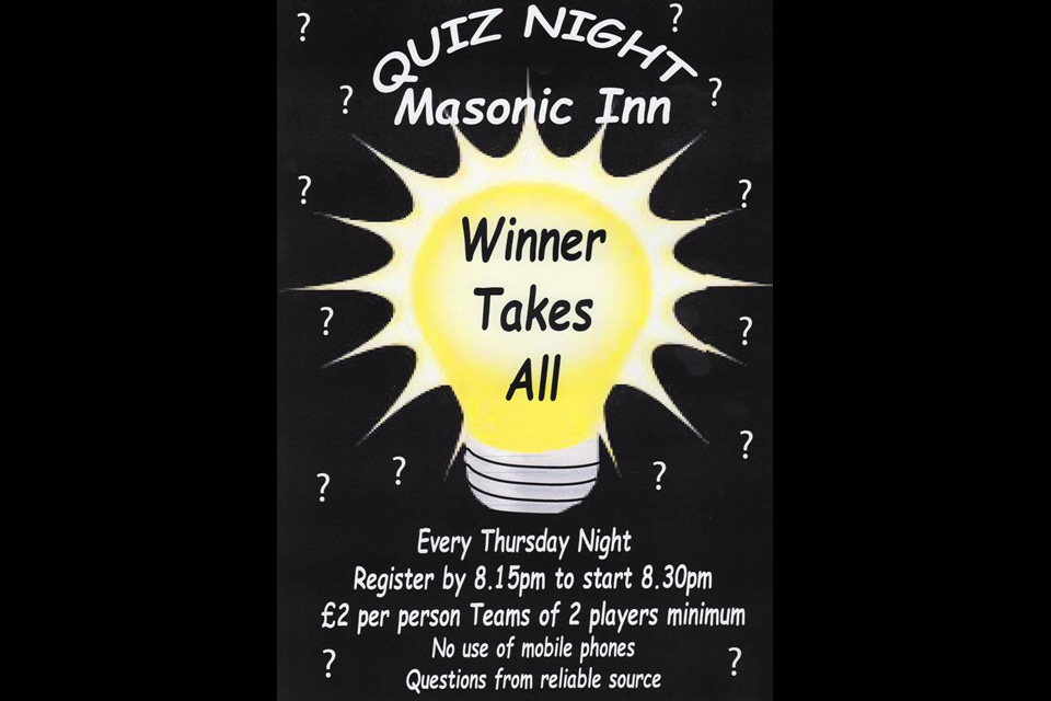 Masonic Inn Quiz Night