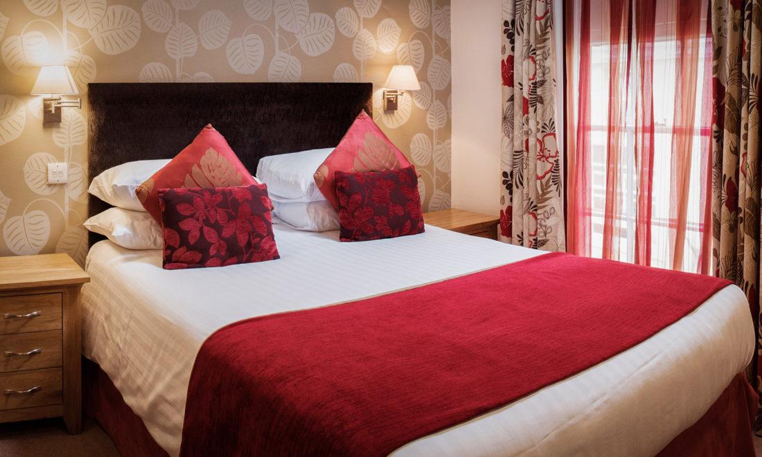 Premier bedroom at The Royal Seven Stars Hotel