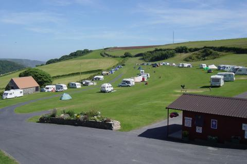Higher Rew campsite near Malborough, Devon