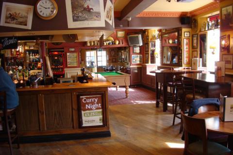 Inside the Bull & Bush, Torquay